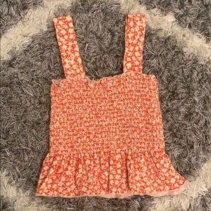 floral scrunch top